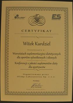 Certyfikat doradcy suplementacyjnego