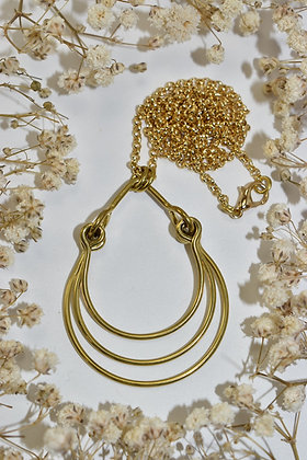 brass layered necklace