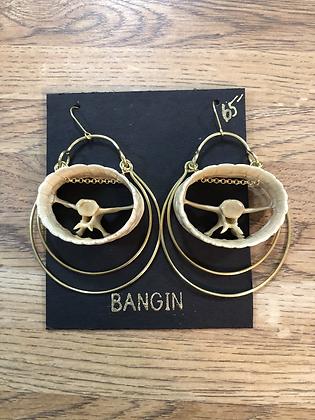 armadillo tail earrings