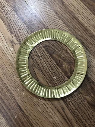brass stamped bangle