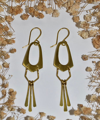 brass tear drop danglers