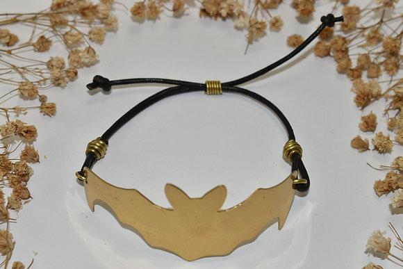 brass bat bracelet