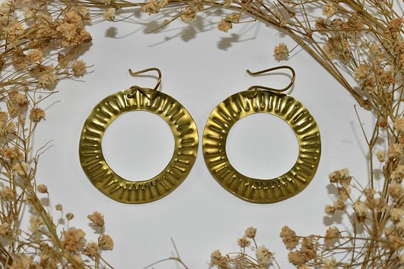 brass stamped hoops