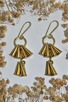 brass bullet earrings