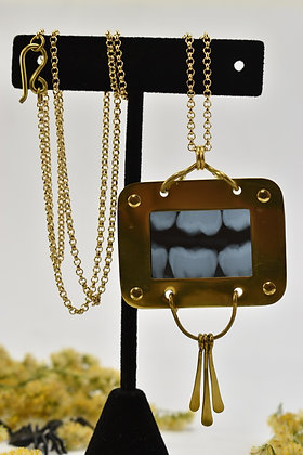 tooth x-ray necklace
