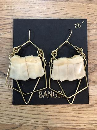 turtle shell earrings