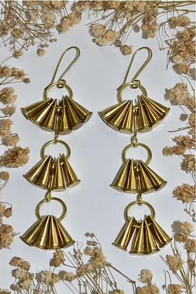 brass bullet shell earrings