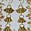 Thumbnail: brass bullet shell earrings