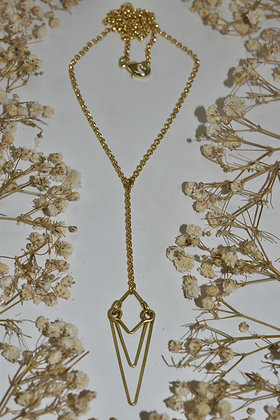 brass baby layer necklace