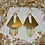 Thumbnail: brass tear drop danglers