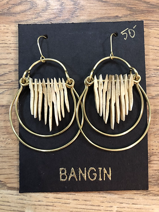 Armadillo scute earrings