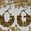 Thumbnail: brass bullet hoop earrings