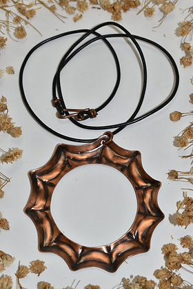 copper spiderweb necklace