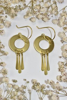 brass tear drop dangle earrings