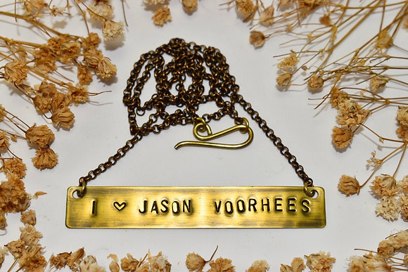 brass name plate necklace