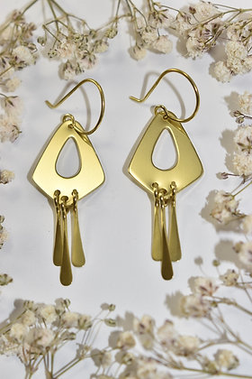 brass tear drop dangle earrings