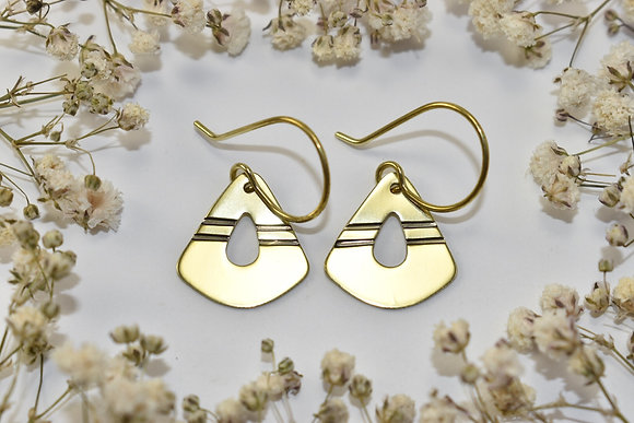 brass stamped earrings