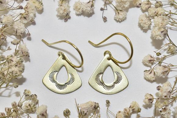 brass stamped earrings