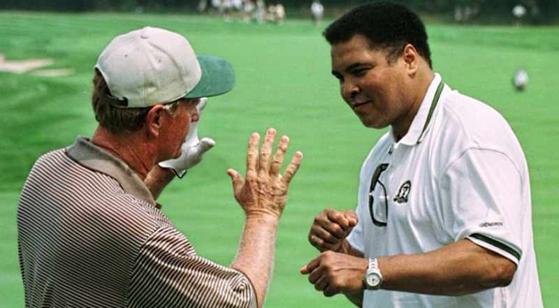 Jack Nicklaus with Mohammed Ali
