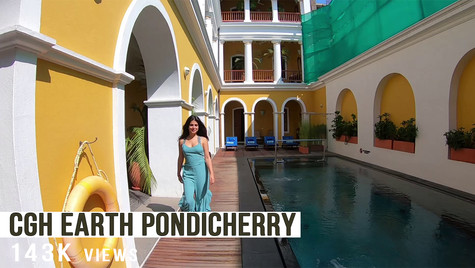 My favorite hotel to stay at in Pondicherry
