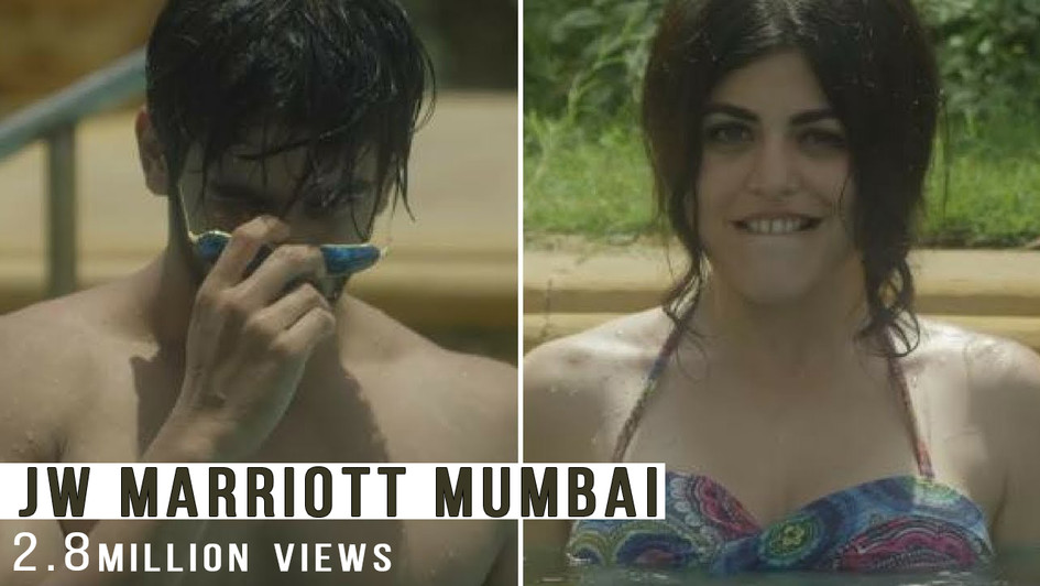 Shenaz's Flirting Gone Wrong in the Pool - JW Marriott
