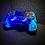 Thumbnail: LuxController PS4 Custom LED Controller mit 2 Paddles, Blau Flammen Design