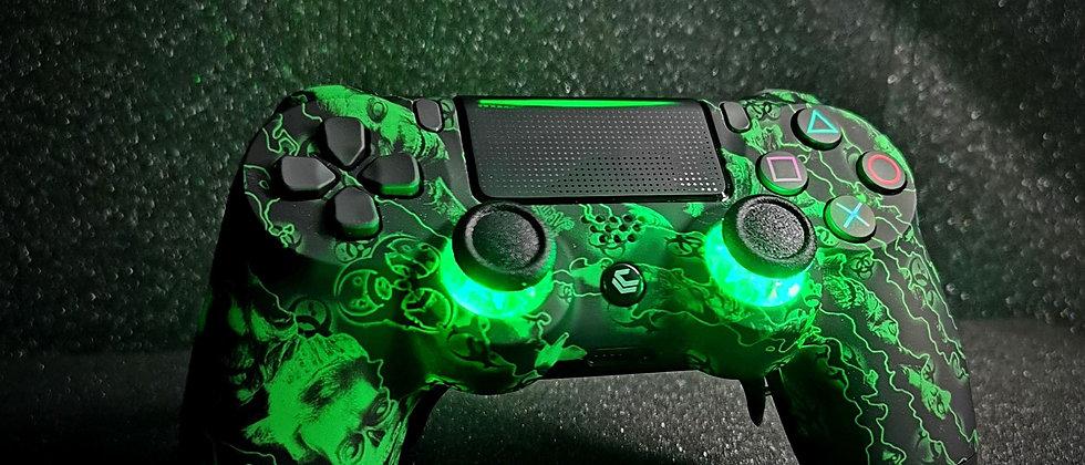 LuxController PS4 Custom LED Controller mit 2 Paddles, grün Zauber