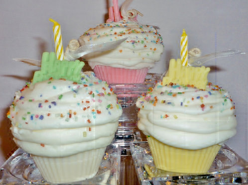Happy Birthday Soy Cupcake Candle