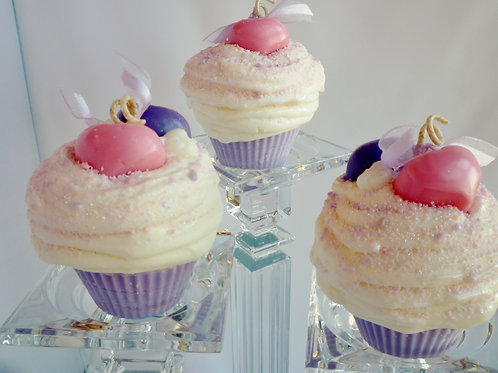 Sweethearts Cupcake Candle