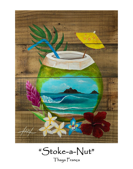 Stoke-a-Nut 11x14 Print
