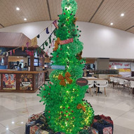 The  christmas trees made from upcycled