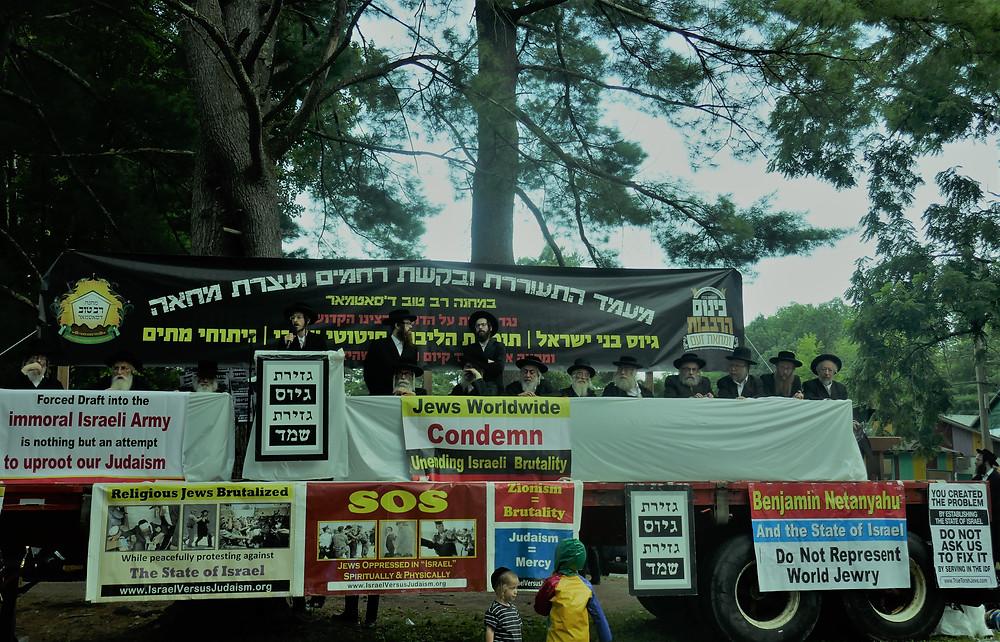 Napanoch Satmar Summer Camp, Protesting Israel