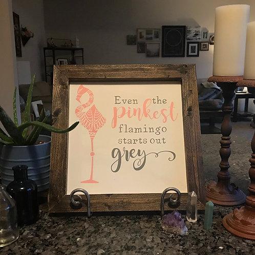 Flamingo, Farmhouse Sign