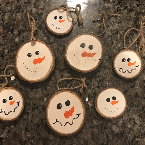 Snowman Wooden Christmas ornaments