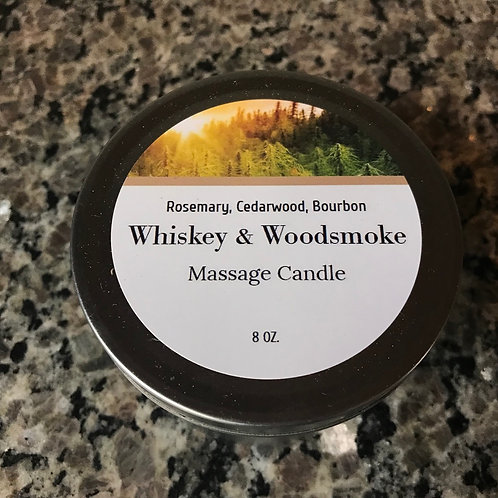 """Whiskey & Woodsmoke"" Massage Candle"