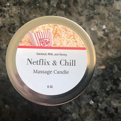 Netflix and chill, massage candle