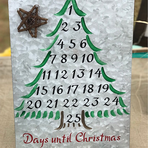 Countdown to Christmas, magnetic tin