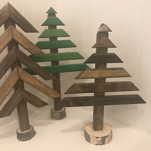 Rustic wooden stake tree