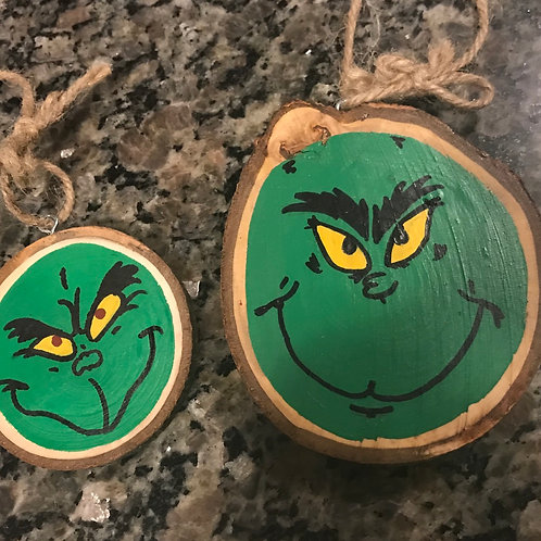 Grinch wooden Christmas ornaments