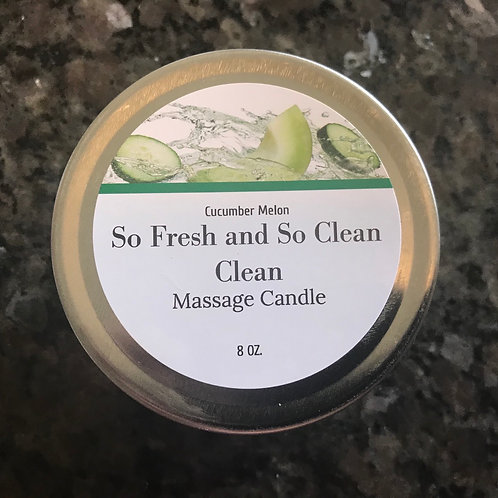 So Fresh and So Clean Clean, massage candle