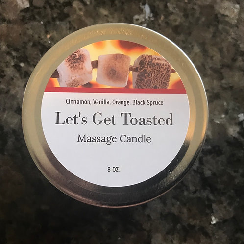 Let's Get Toasted, massage candle