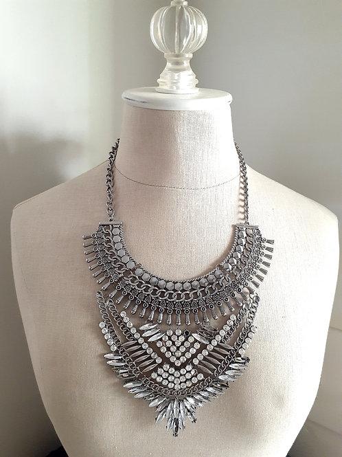 Tribal Rhinestone Necklace