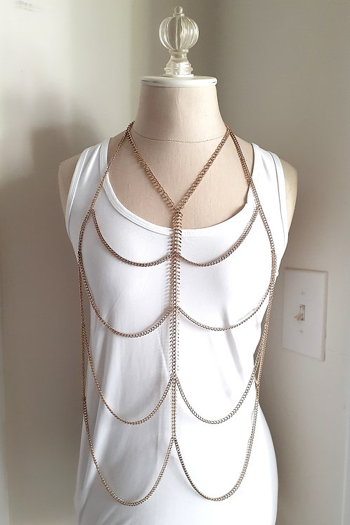 Gold Web Chain Necklace