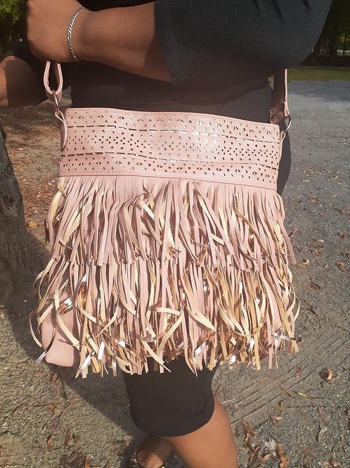 Pale Pink Fringe Bag