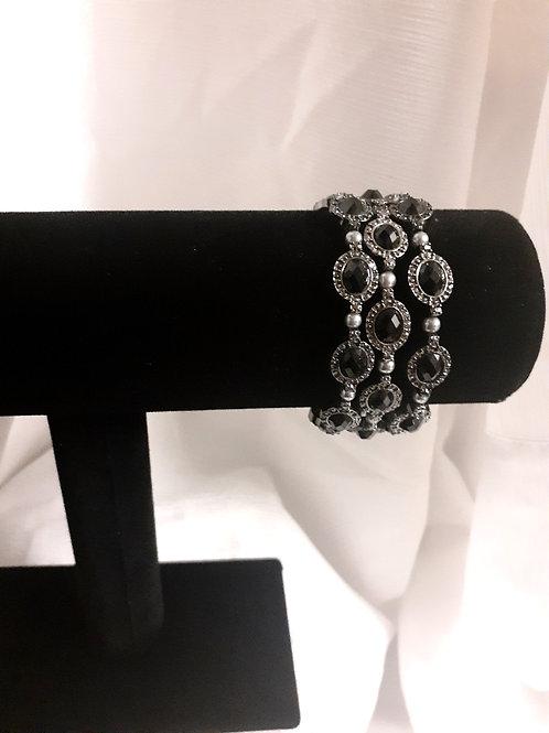 Three Layer Stone Bracelet
