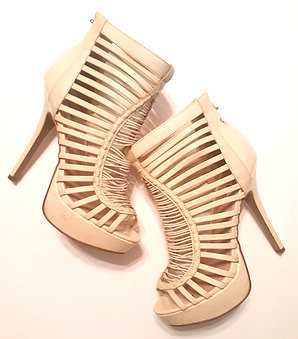 Cream Stiletto Bootie