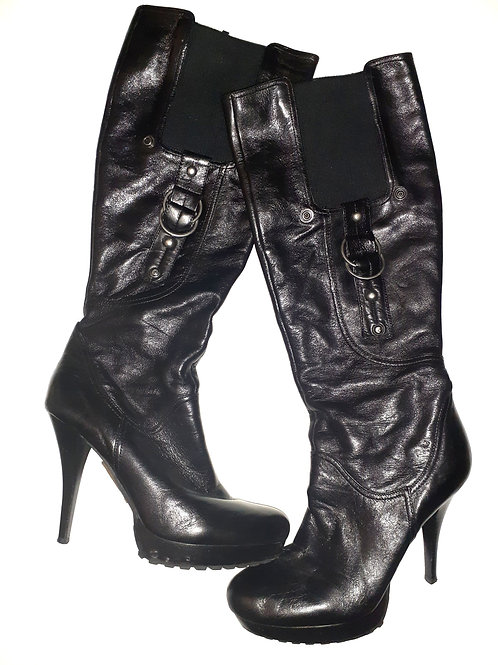 Leather Platform Boot
