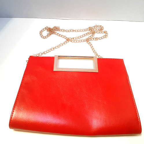 Red Purse with Chain