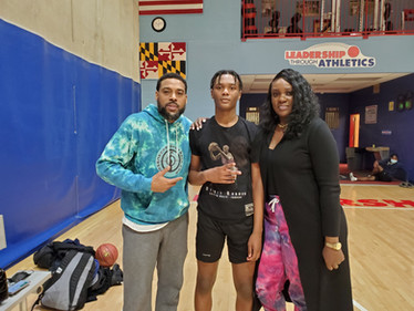 With Isaiah Todd and his mom, Marlene Venable