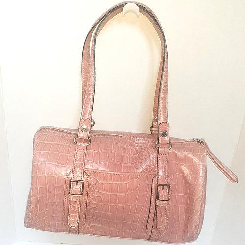 Pale Pink Snakeskin Shoulder Bag